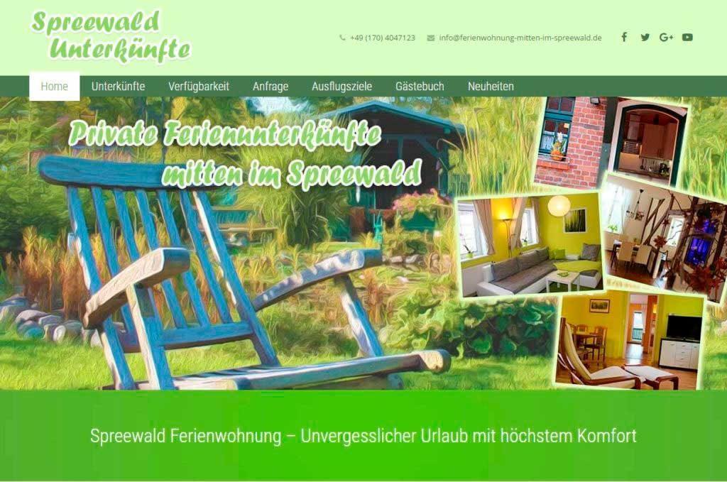 Spreewald Unterkünfte Homepage